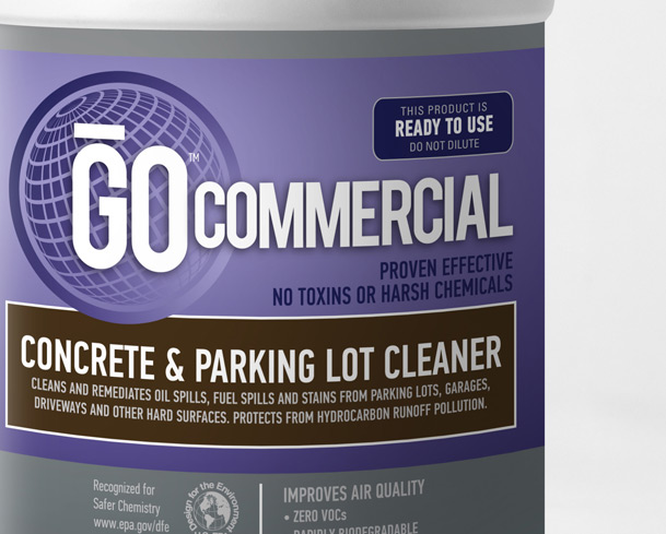 Concrete parking lot cleaner go commercial products for Best chemical to clean concrete