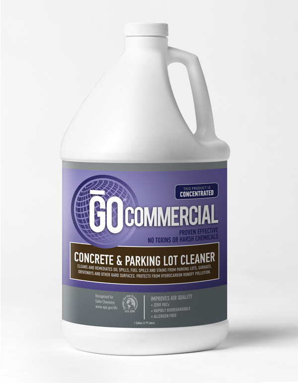 Concrete parking lot cleaner go commercial products for Cement cleaning products